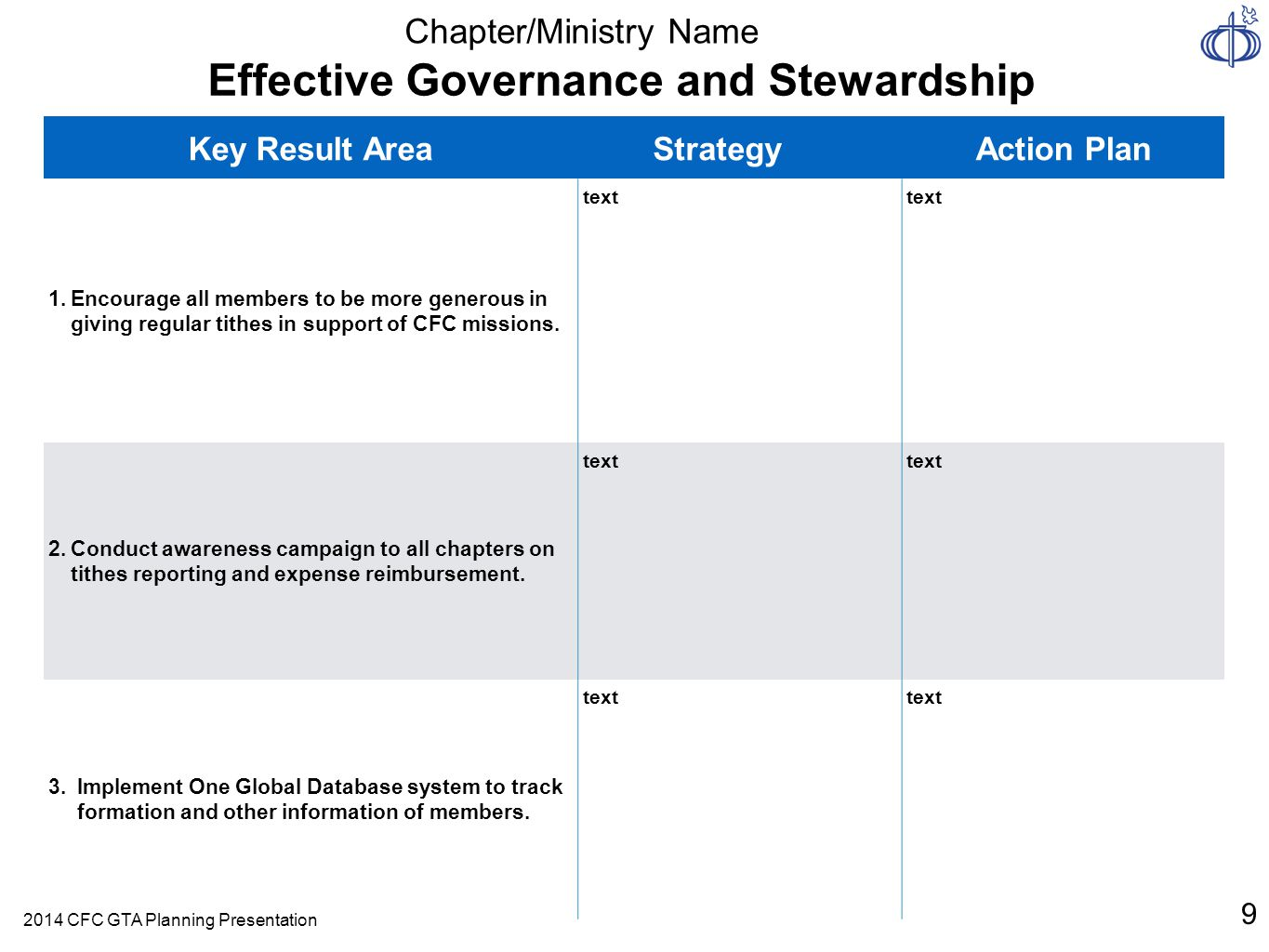 Effective Governance and Stewardship