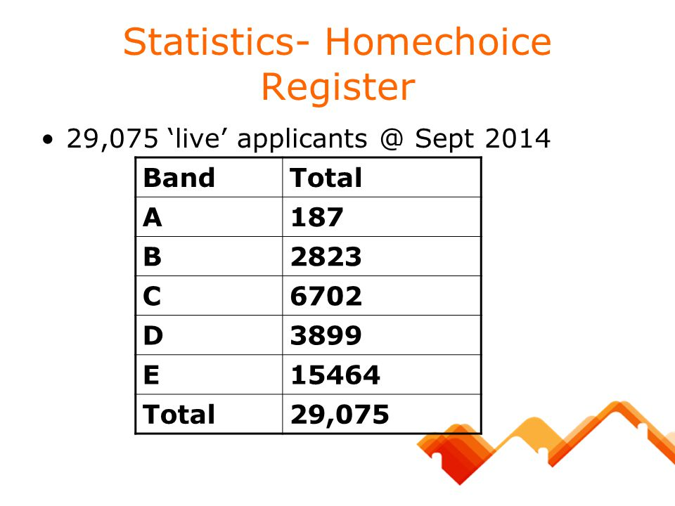 Statistics- Homechoice Register
