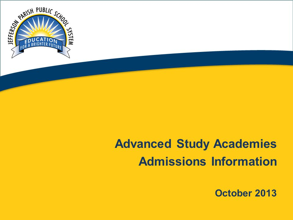 Advanced Study Academies Admissions Information