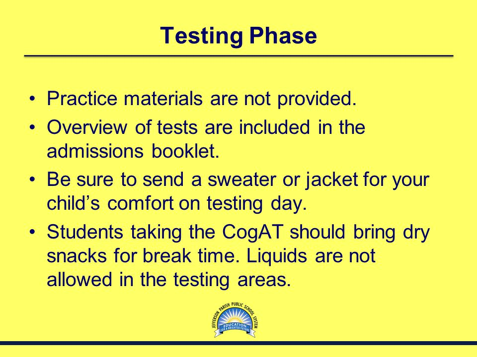 Testing Phase Practice materials are not provided.