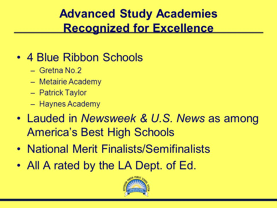 Advanced Study Academies Recognized for Excellence