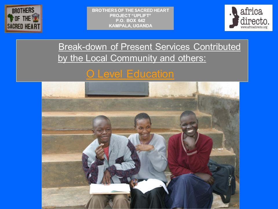 Break-down of Present Services Contributed by the Local Community and others: