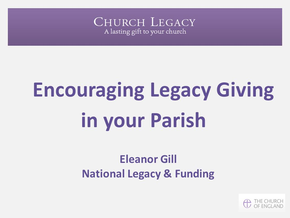 Encouraging Legacy Giving in your Parish