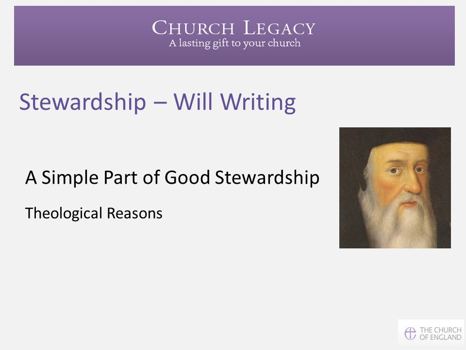 Stewardship – Will Writing