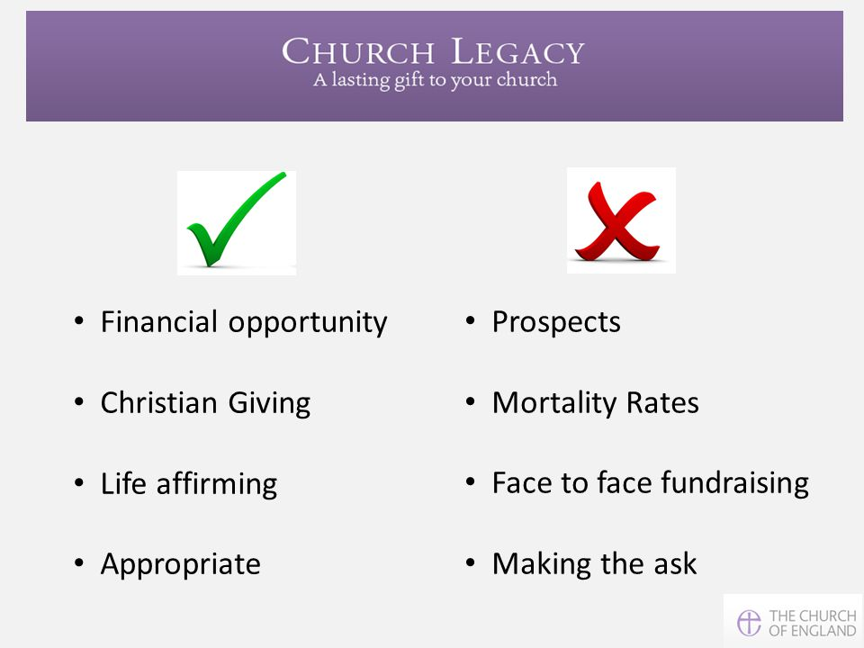 Financial opportunity Christian Giving Life affirming Appropriate