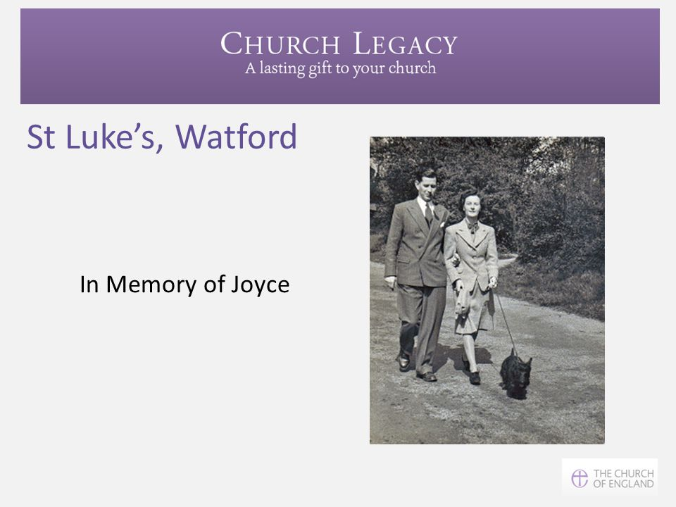 St Luke's, Watford In Memory of Joyce In St Albans Diocese