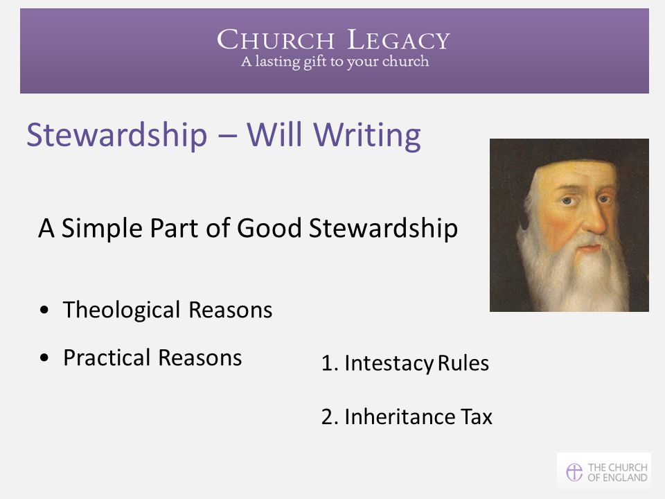 Stewardship – Will Writing