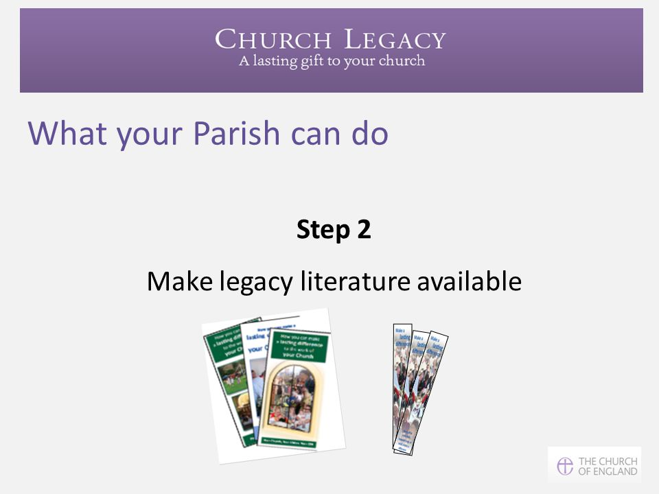 Make legacy literature available