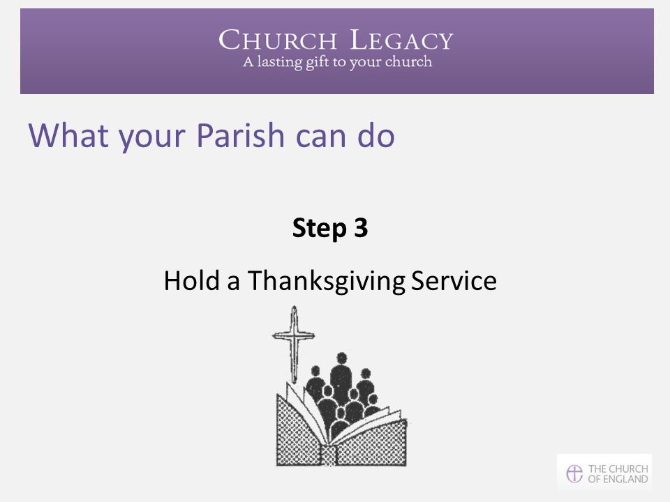 Hold a Thanksgiving Service