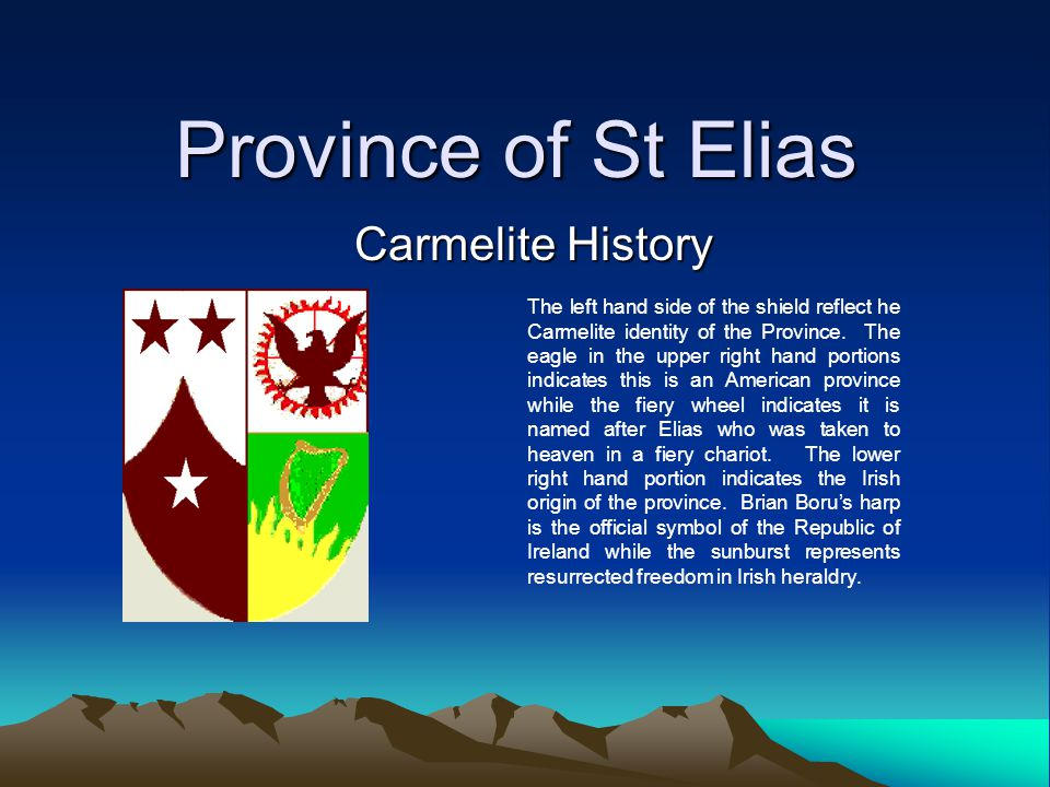 Province of St Elias Carmelite History