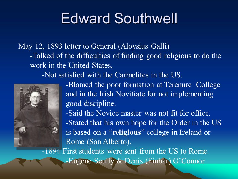 Edward Southwell May 12, 1893 letter to General (Aloysius Galli)