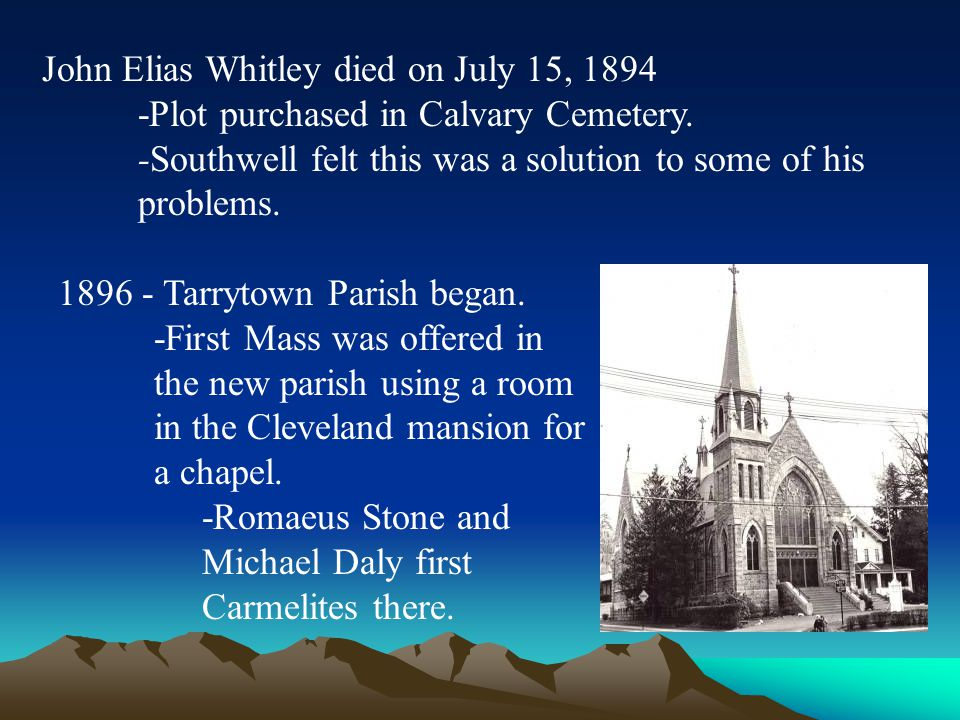 John Elias Whitley died on July 15, 1894