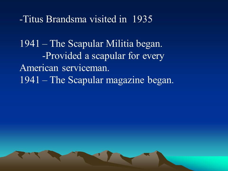 -Titus Brandsma visited in 1935
