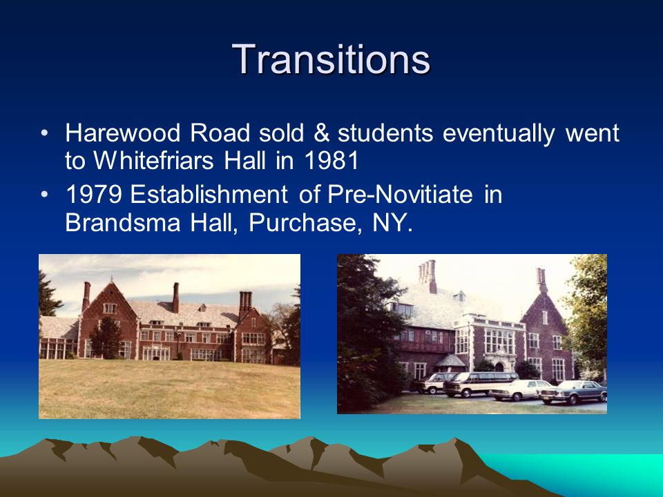 Transitions Harewood Road sold & students eventually went to Whitefriars Hall in 1981.
