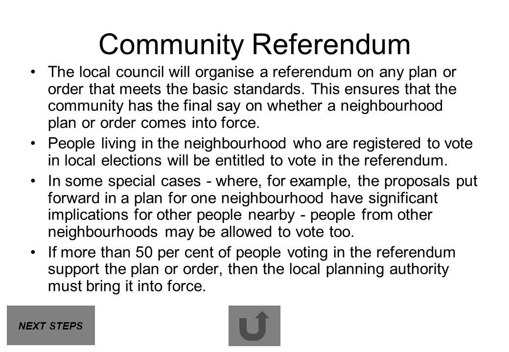 Community Referendum
