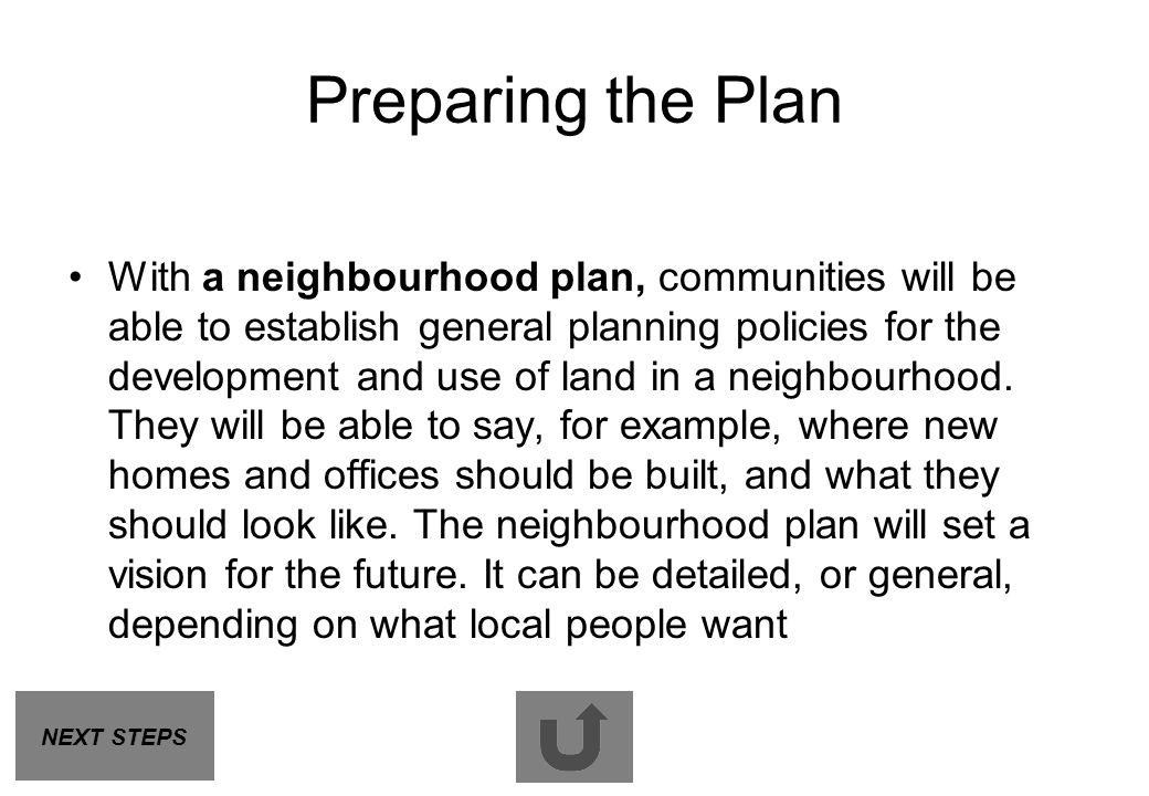 Preparing the Plan