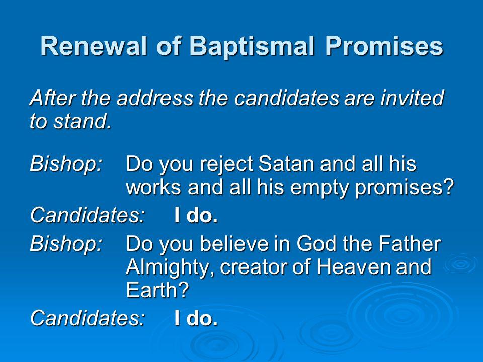 Renewal of Baptismal Promises