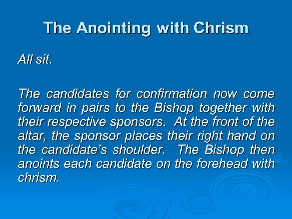 The Anointing with Chrism