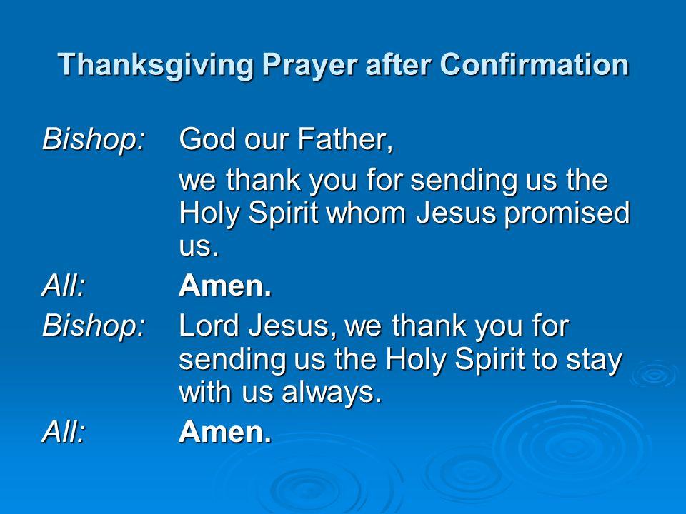 Thanksgiving Prayer after Confirmation