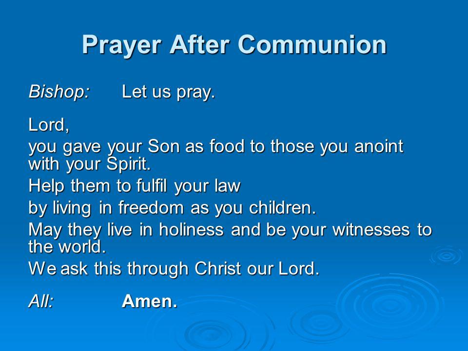 Prayer After Communion