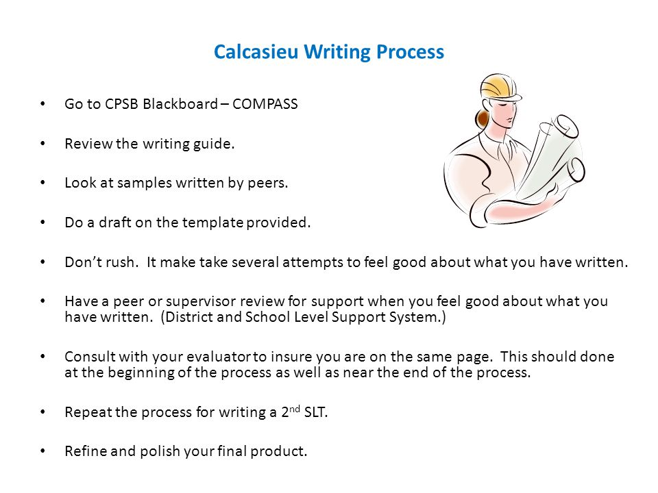 Calcasieu Writing Process
