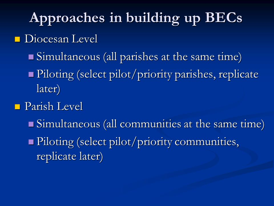Approaches in building up BECs