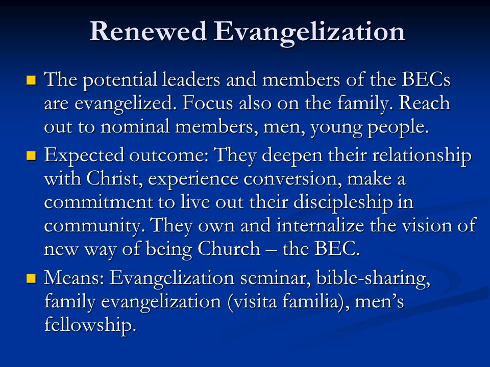 Renewed Evangelization