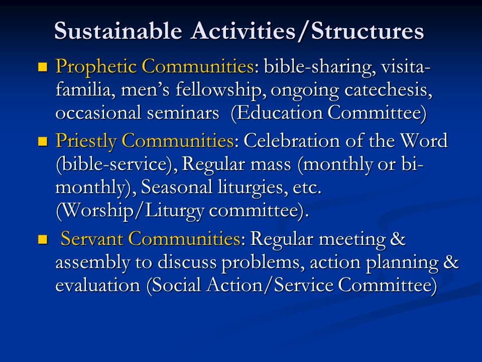 Sustainable Activities/Structures