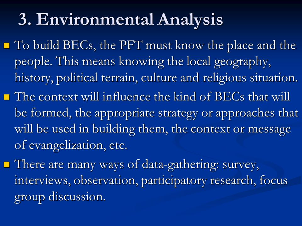 3. Environmental Analysis