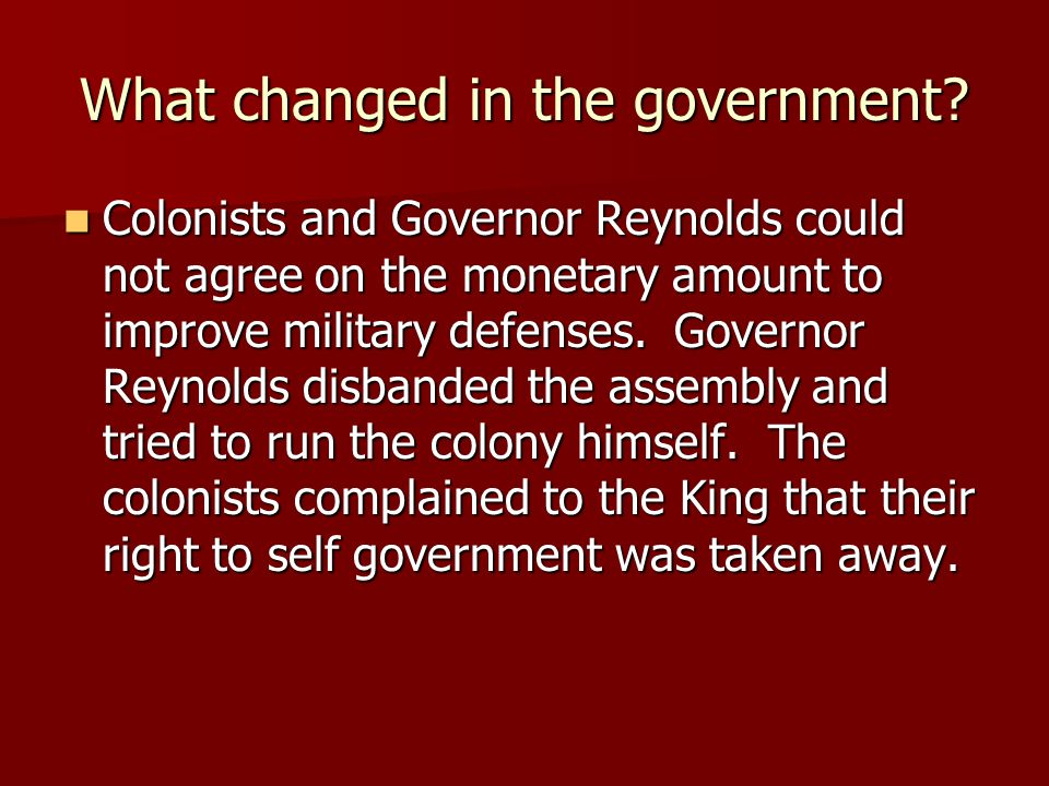 What changed in the government