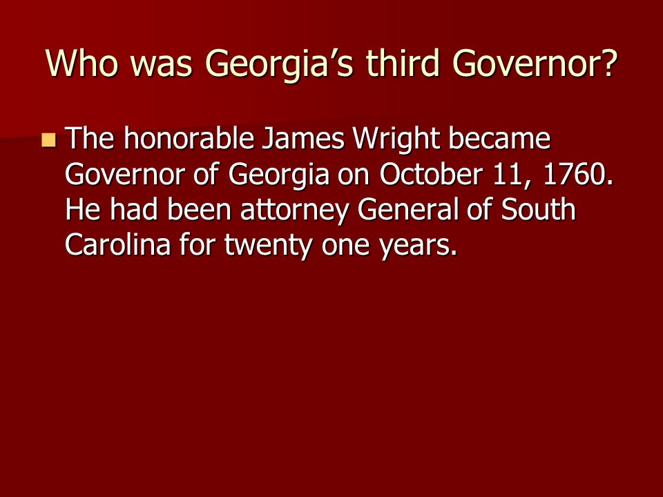 Who was Georgia's third Governor