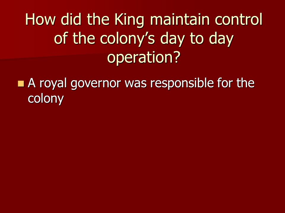 What Type of Government Did the New England Colonies Have?