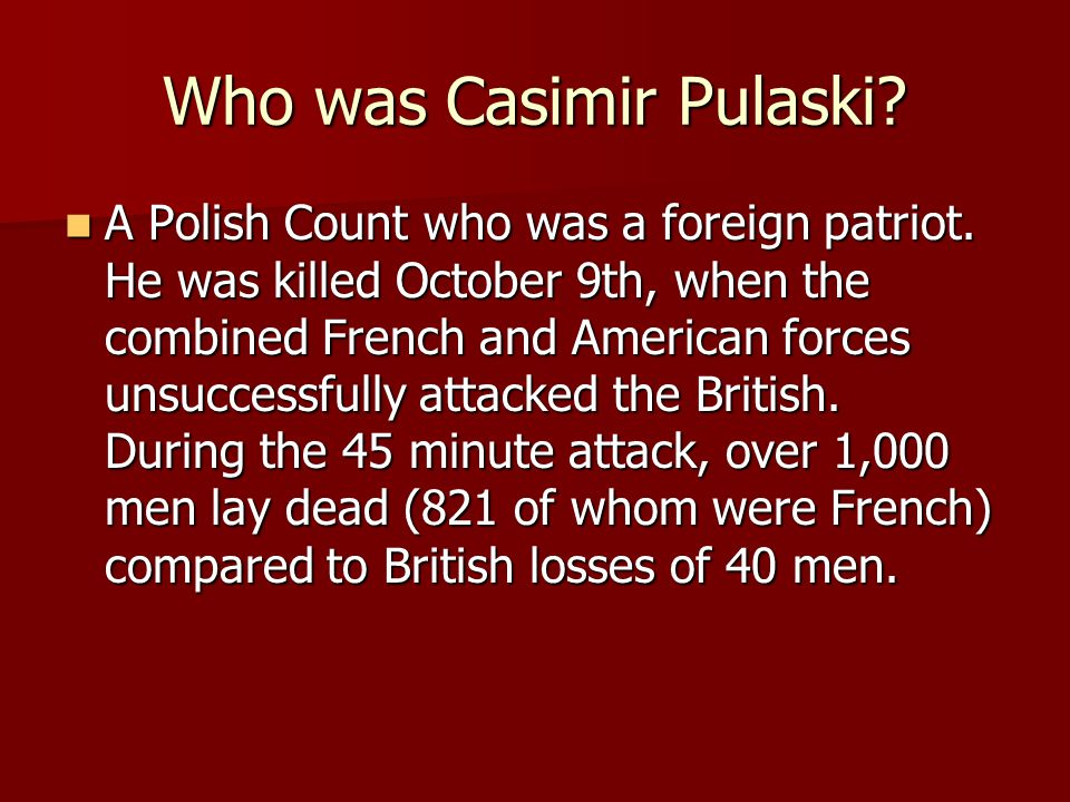 Who was Casimir Pulaski