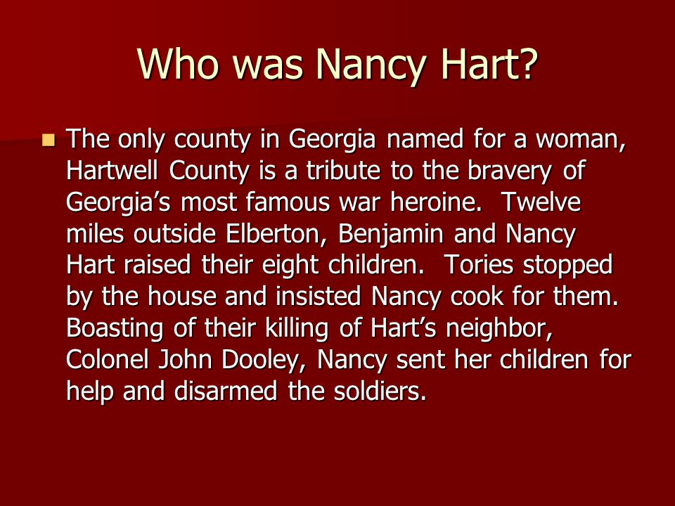 Who was Nancy Hart
