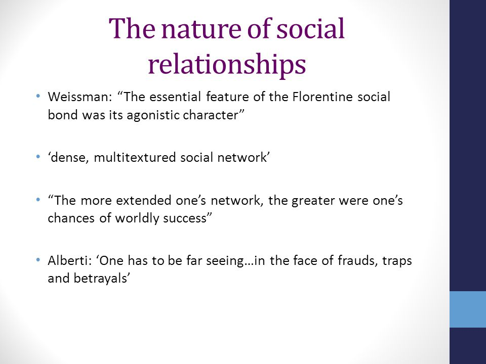 The nature of social relationships