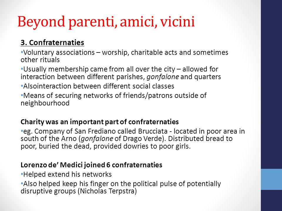 Beyond parenti, amici, vicini