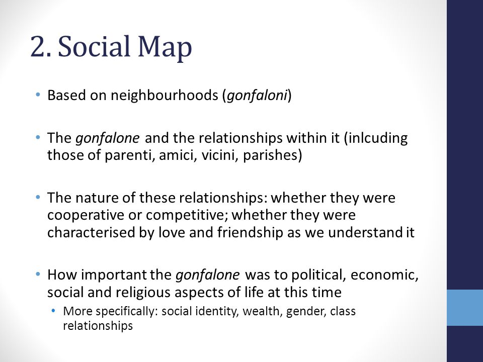 2. Social Map Based on neighbourhoods (gonfaloni)