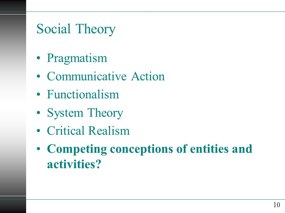 Social Theory Pragmatism Communicative Action Functionalism