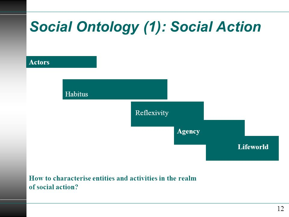 Social Ontology (1): Social Action