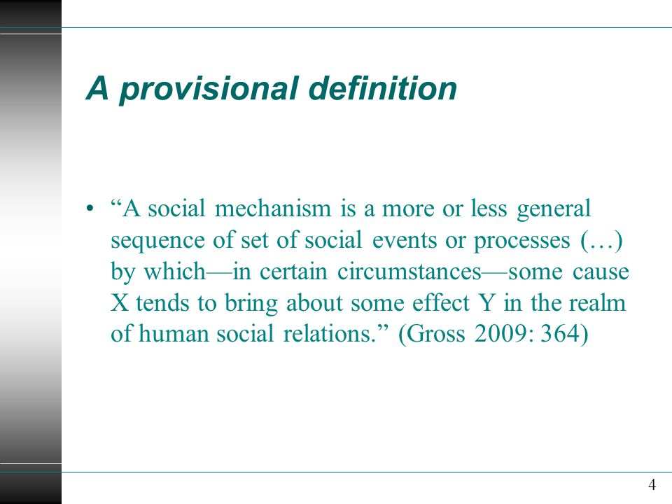 A provisional definition
