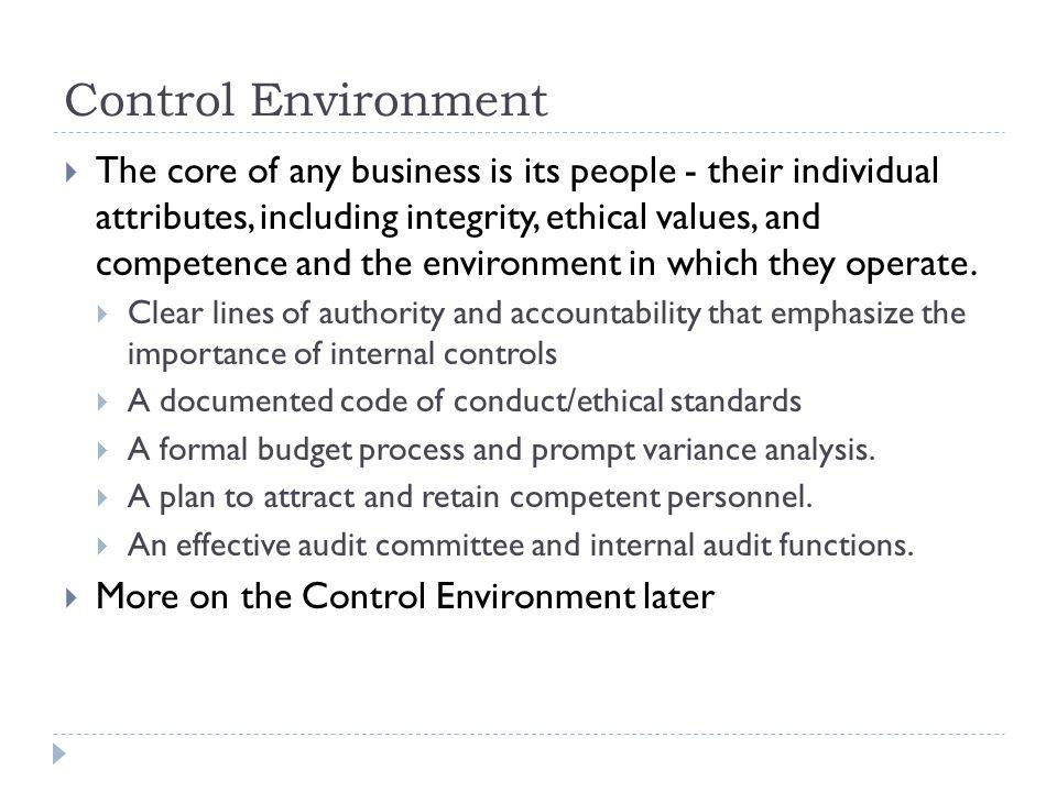Control Environment