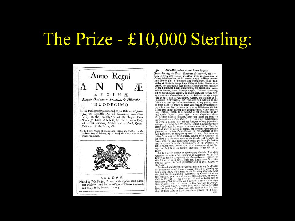 The Prize - £10,000 Sterling: