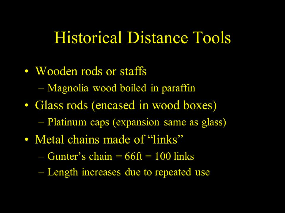 Historical Distance Tools