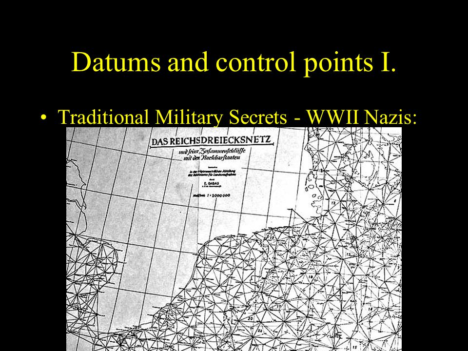 Datums and control points I.