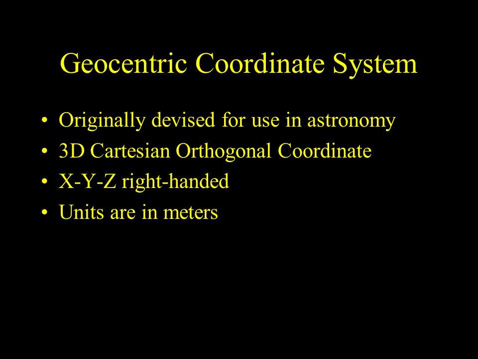 Geocentric Coordinate System