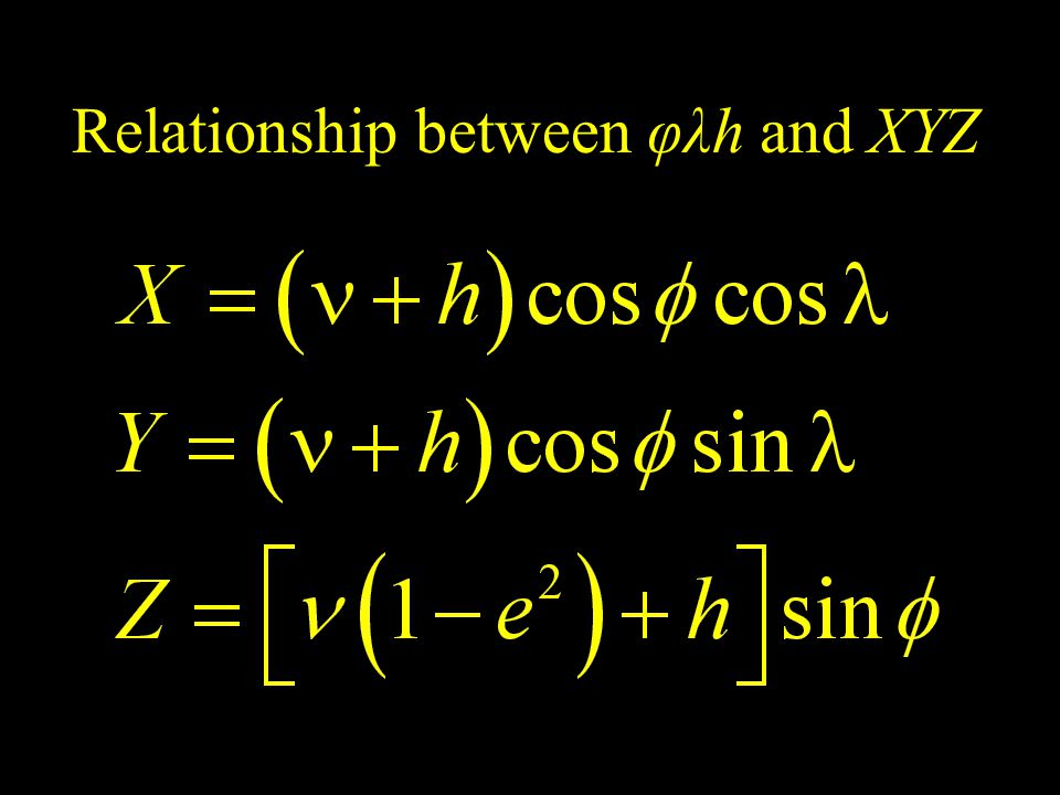 Relationship between φλh and XYZ
