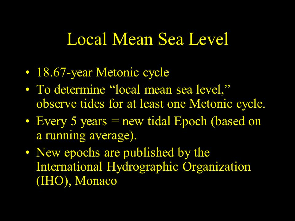 Local Mean Sea Level 18.67-year Metonic cycle