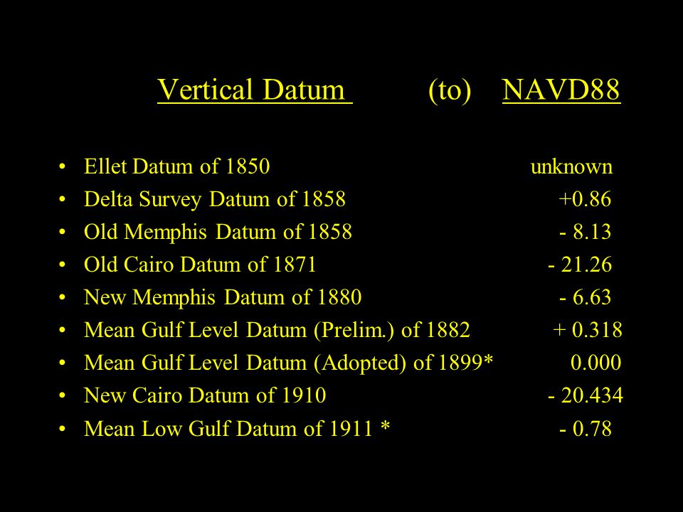 Vertical Datum (to) NAVD88