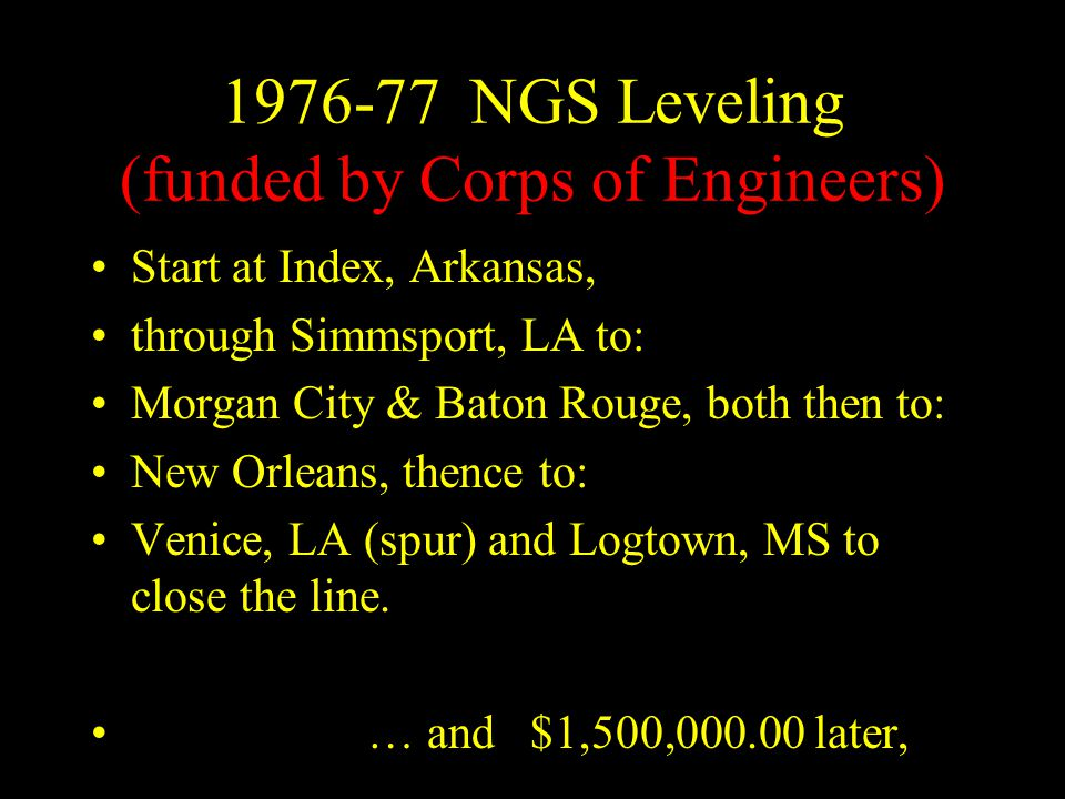 1976-77 NGS Leveling (funded by Corps of Engineers)