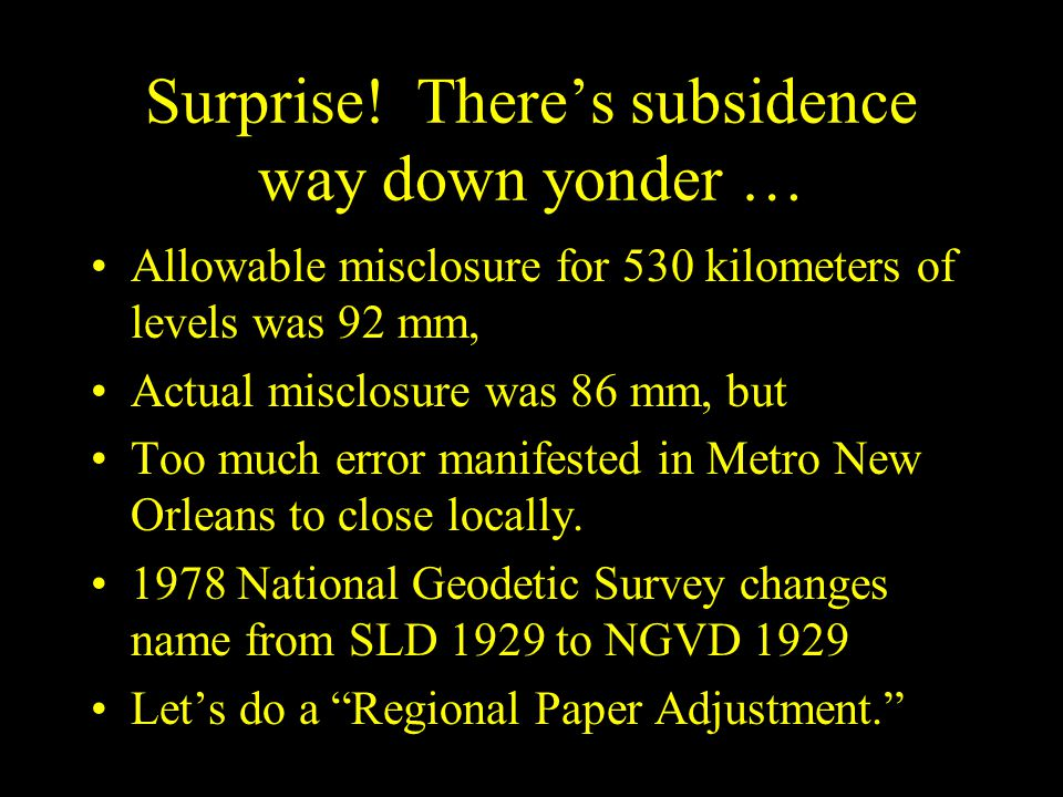 Surprise! There's subsidence way down yonder …